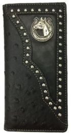 12 Units of Horse With Horse Shoe Design Western Long Wallet - Wallets & Handbags