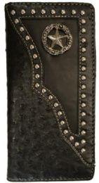 10 Units of Star Long Western Unisex Wallet Black - Wallets & Handbags