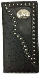 10 Units of Western Praying Horse Long Wallet Black - Wallets & Handbags