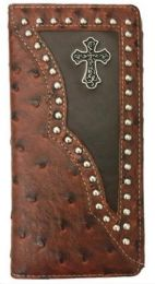 10 Units of Cross Design Western Long Wallet Brown - Wallets & Handbags