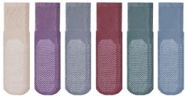 24 Units of Yacht & Smith Mens Multi Purpose Diabetic Rubber Silicone Gripper Bottom Slipper Socks Size 10-13 - Men's Diabetic Socks