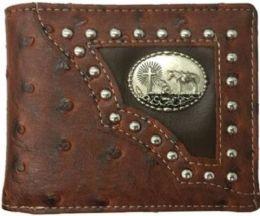 12 Units of Praying Horse Western Bi Fold Wallet Brown - Wallets & Handbags