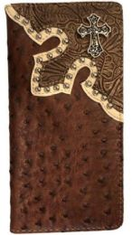 10 Units of Brown Cross Western Long Wallet - Wallets & Handbags