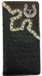 10 Units of Long Horn Black Western Long Wallet - Wallets & Handbags