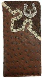 10 Units of Brown Long Horn Western Wallet - Wallets & Handbags