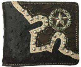 10 Units of Black Western Bi Fold Star Wallet - Wallets & Handbags