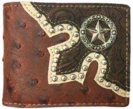 10 Units of Brown Bi Fold star Western Wallet - Wallets & Handbags