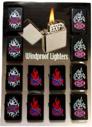 24 Units of Lighters Confederate Flames - Lighters