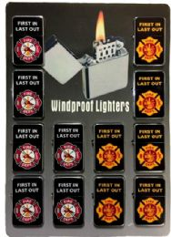 24 Units of Fire Department Refillable Lighter - Lighters