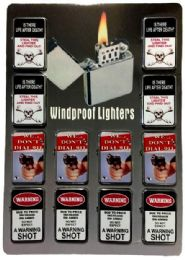 24 Units of Life After Death Warning Dial 911 Refillable Lighter - Lighters