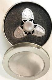 36 Units of Silver Cross Metal Alloy Zinc Fidget Spinner - Fidget Spinners