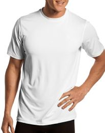 144 Units of Mens Cotton Short Sleeve T Shirts Solid White Size L - Mens Clothes for The Homeless and Charity