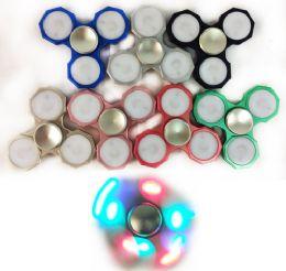 72 Units of Metal Three Bar Light Up Fidget Spinner - Fidget Spinners