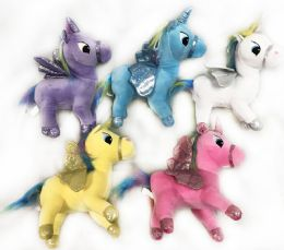 24 Units of Plush Stuffed Animal Unicorn Assorted Colors - Light Up Toys