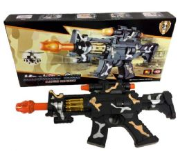 96 Units of Camo Light Up Toy Gun - Toy Weapons