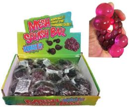 96 Units of Glitter Squish Ball With Putty Inside Display Box - Slime & Squishees
