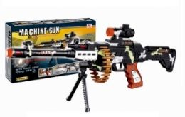 12 Units of Camo Machine Gun With Lights And Sound - Toy Weapons