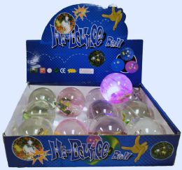 72 Units of High Bounce Water Ball Lizard Lights Display Box - Light Up Toys