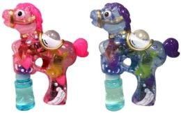 24 Units of Horse Shaped Bubble Gun Assorted Colors - Bubbles