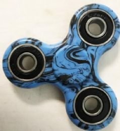 60 Units of Black Blue Graphic Fidget Spinners - Fidget Spinners