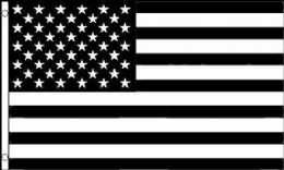 24 Units of Black And White American Flag - Signs & Flags