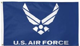 12 Units of Officially Licensed United States Air Force Wing Logo Flag - Signs & Flags