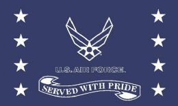 12 Units of Official Licensed United States Air Force Served with Pride Flag - Signs & Flags