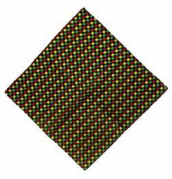 72 Units of Checkered Bandana Rasta color - Bandanas