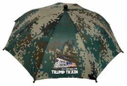 36 Units of Camo Trump Train Umbrella Hat - Umbrellas & Rain Gear