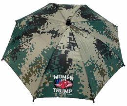 36 Units of Woman For Trump Camo Umbrella Hat - Umbrellas & Rain Gear