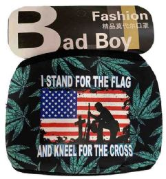 12 Units of Stand Flag Kneel Cross Marijuana Style Face Cover - Face Mask
