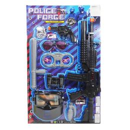 12 Units of Police Force Play Set - Toy Weapons