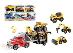 12 Units of Truck Carrier Play Set With Light And Sound - Cars, Planes, Trains & Bikes