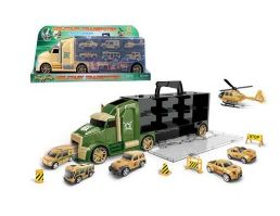 16 Units of Military Truck With Carry Case Play Set - Cars, Planes, Trains & Bikes