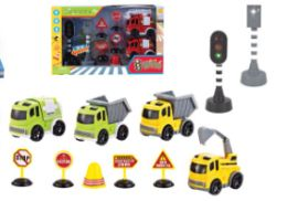 24 Units of Traffic Vehicle Set With Light And Sound - Cars, Planes, Trains & Bikes