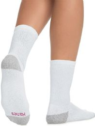 60 Units of Hanes Crew Sock For Woman Shoe Size 4-10 White - Womens Crew Sock