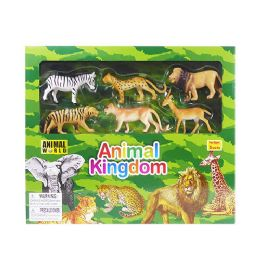 12 Units of Animal World Safari Play Set - Animals & Reptiles