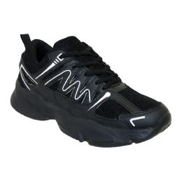 12 Units of Men's Casual Sneakers In Black - Men's Sneakers