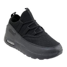 12 Units of Men's Casual Sneakers In Black - Men's Sneakers
