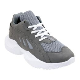 12 Units of Men's Casual Sneakers In Gray - Men's Sneakers