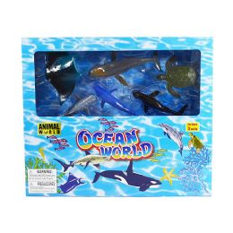 12 Units of Animal World Ocean Play Set - Animals & Reptiles