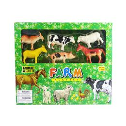 12 Units of Animal World Farm Play Set - Animals & Reptiles