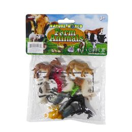 48 Units of Nature World Mini Farm - Animals & Reptiles