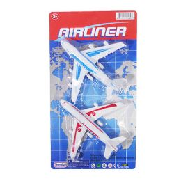 18 Units of Pullback Airliners 2 Piece Set - Cars, Planes, Trains & Bikes