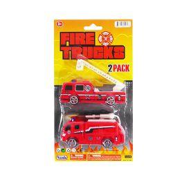 36 Units of Fire Trucks 2 Piece Set - Cars, Planes, Trains & Bikes