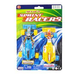 24 Units of Sprint Racers 2 Piece Set - Cars, Planes, Trains & Bikes