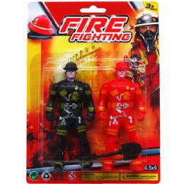 108 Units of FIREFIGHTERS ON DOUBLE BLISTER CARD - Action Figures & Robots