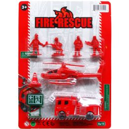 72 Units of FIRE RESCUE PLAY SET ON BLISTER CARD - Action Figures & Robots