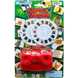 96 Units of ANIMAL VIEWER WITH 2 FILM DISKS - Light Up Toys