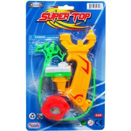 96 Units of SUPER TOP PLAY SET ON BLISTER CARD - Light Up Toys